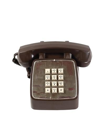 GTE Vintage Telephone, Brown