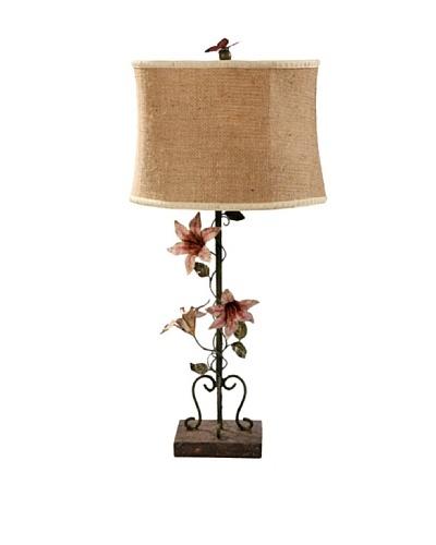Guildmaster Floral Vine Buffet Lamp