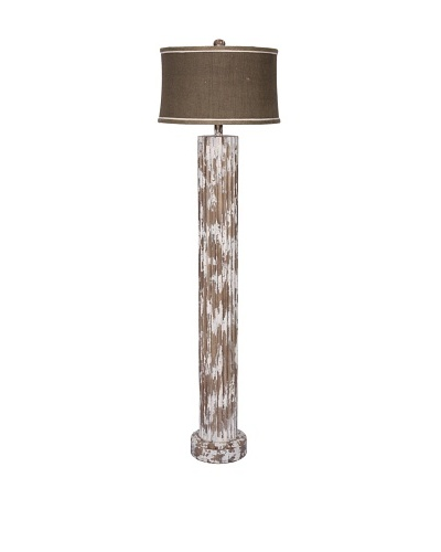 Guildmaster Wood Cylinder Floor Lamp