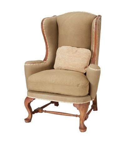 GuildMaster Andrew Jackson Wingback Chair, Acorn