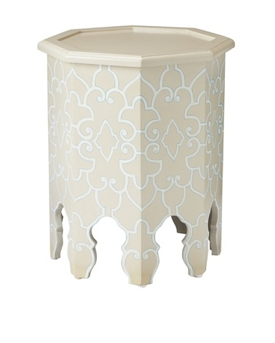 GuildMaster Weiss Side Table, Taupe/White