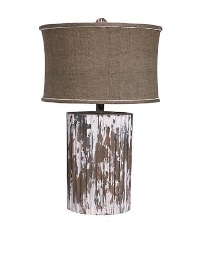 Guildmaster Wood Cylinder Lamp