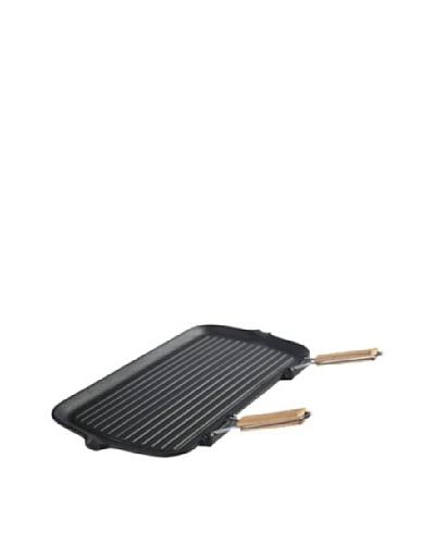 Guro Cast Iron Pro Foldable Grill Pan, Black, 10 x 19