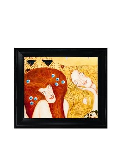 Gustav Klimt's Beethoven Frieze Framed Oil Painting