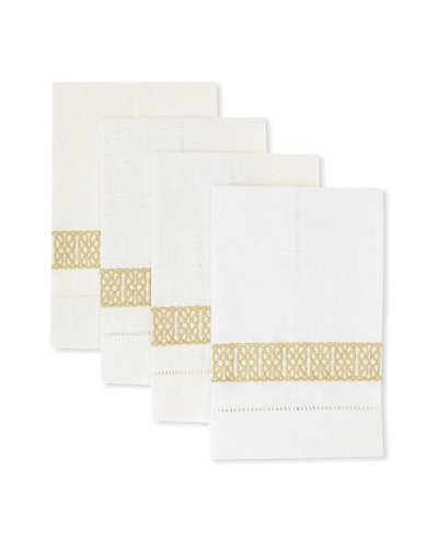D.L. Rhein Set of 4 Nautical Knot Guest Towels