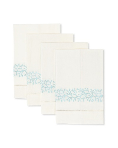 D.L. Rhein Set of 4 Coral Guest Towels