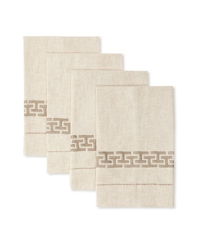 D.L. Rhein Set of 4 Linking-H Guest Towels