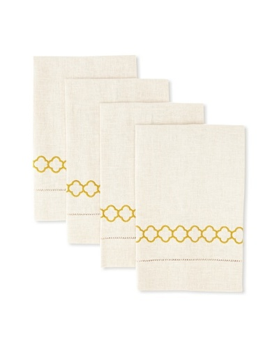 D.L. Rhein Set of 4 Clover Link Guest Towels