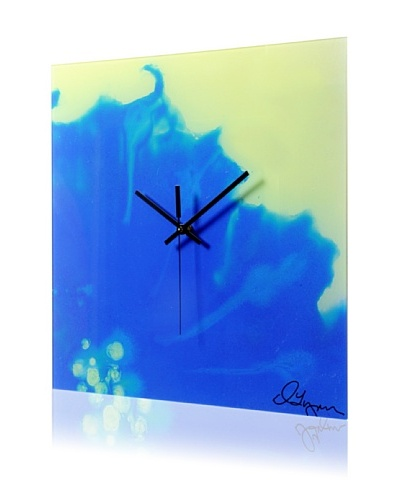 HangTime Designs Morning Glory Wall Clock, Blue