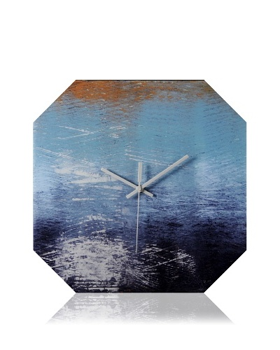 HangTime Designs Piers Edge Octa Wall Clock, Blue