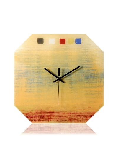 HangTime Designs Textile Octa Wall Clock, Yellow