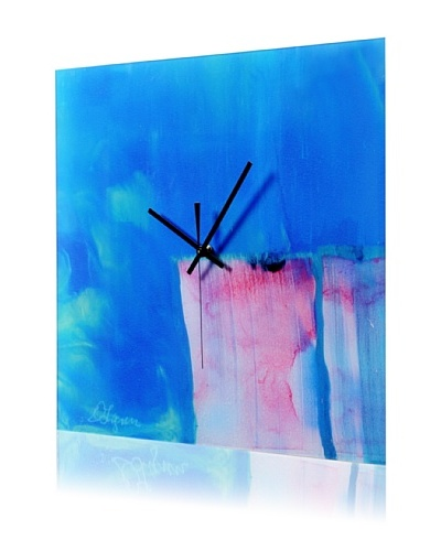 HangTime Designs Curtains Wall Clock, Blue