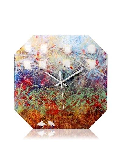 HangTime Designs City Birds Octa Wall Clock, Multi