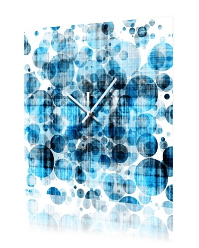 HangTime Designs Bleubbles Wall Clock, Blue