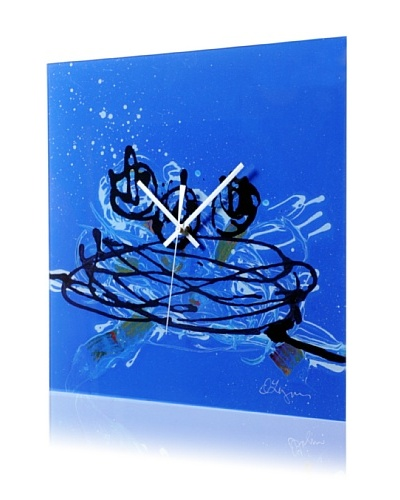 HangTime Designs Nest Wall Clock, Blue