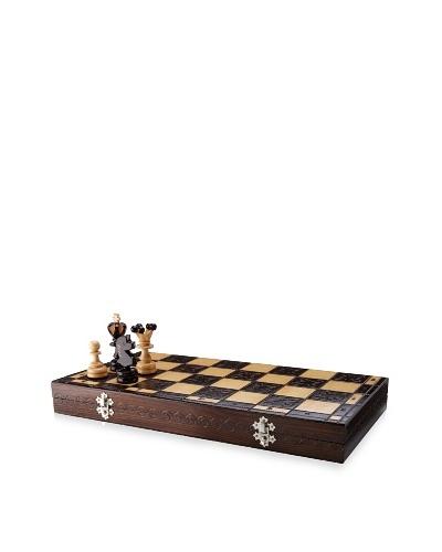 Hannibal Enterprises Handmade Wood Burned Chess Set