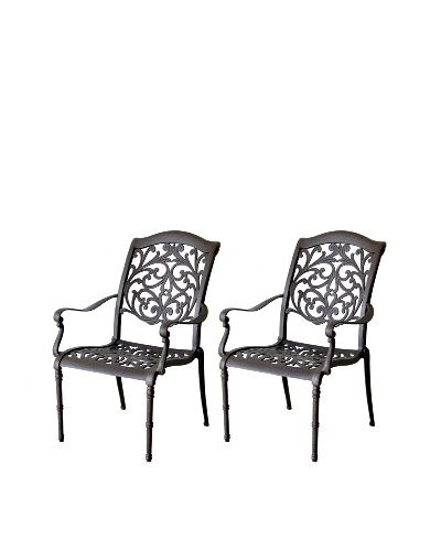 Hansen Set of 2 Madera Dining Arm Chairs, Bolero