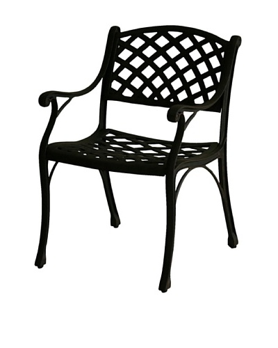 Hansen Charleston Dining Arm Chair, Aged Bronze