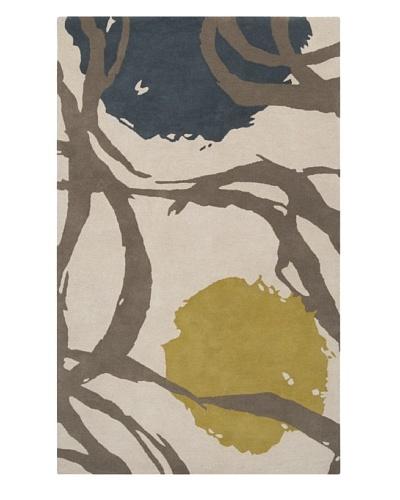 Harlequin New Zealand Wool Rug [Moss/Slate/Oatmeal/Blue]