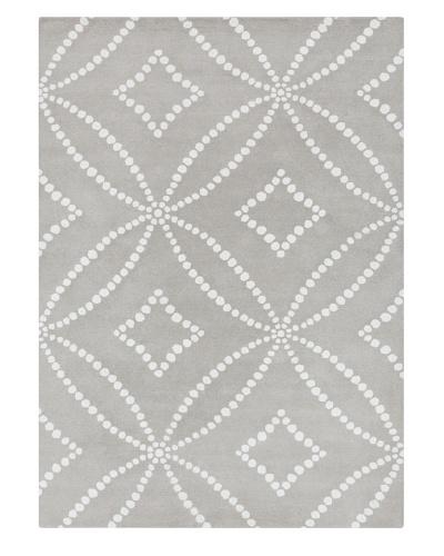 Harlequin New Zealand Wool Rug, 5' x 8' [Grey/White]
