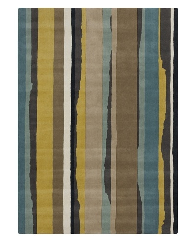 Harlequin New Zealand Wool Rug [Blue Multi]