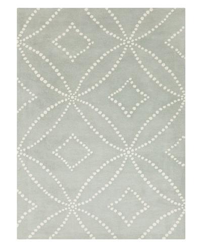 Harlequin New Zealand Wool Rug [Light Blue/White]