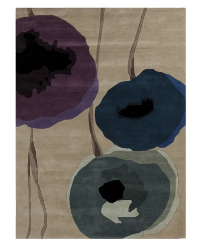 Harlequin New Zealand Wool Rug [Purple/Blue/Grey]