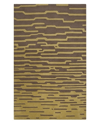 Harlequin New Zealand Wool Rug [Olive, Dark Taupe]