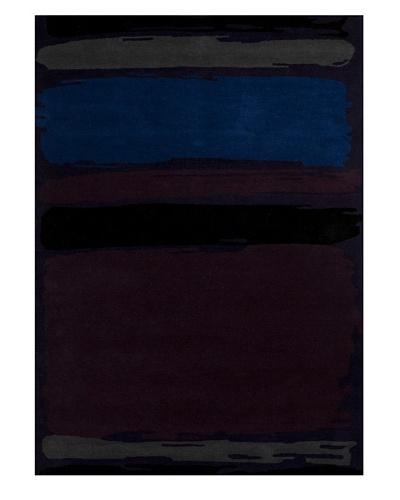 Harlequin New Zealand Wool Rug [Blue/Purple/Grey]