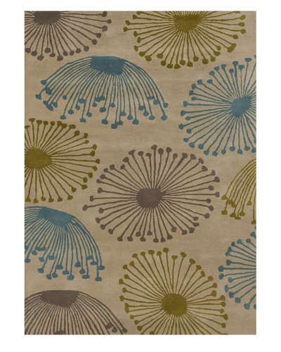 Harlequin New Zealand Wool Rug [Blue/Grey/Yellow]