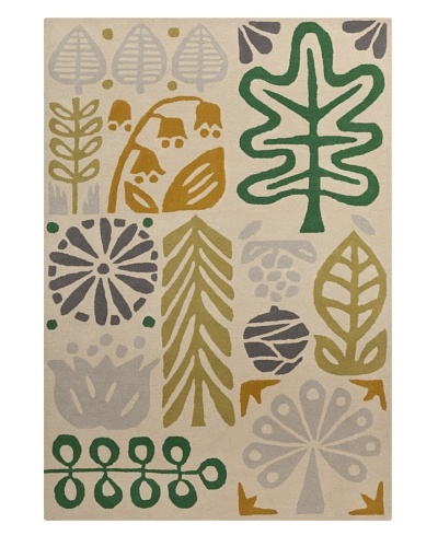Harlequin New Zealand Wool Rug, Avocado/Deep Sea Green/Kelp [Avocado, Deep Sea Green, Kelp Brown, Pe...