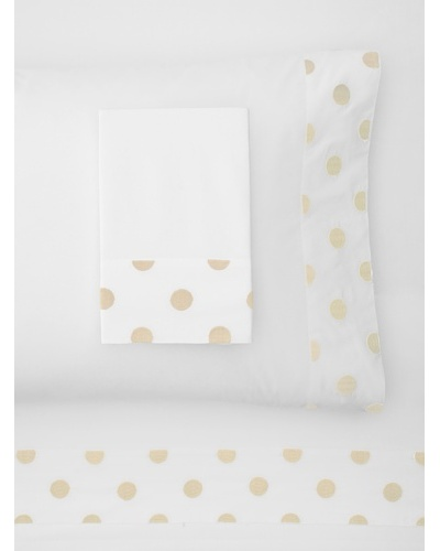 Haute Home Embroidered Polka Dot Sheet Set