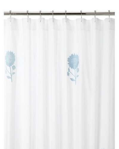 Haute Home Sunflower Shower Curtain, Blue