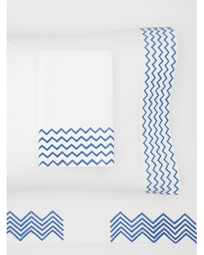 Haute Home Embroidered Zig Zag Sheet Set
