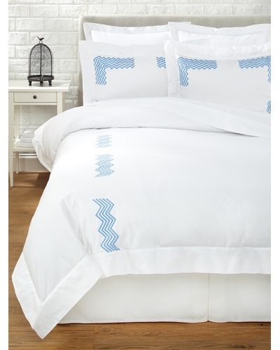 Haute Home Embroidered Zig Zag Duvet Set