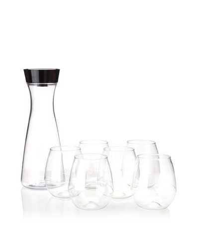 Takeya 33.8-Oz. 360 Degree Carafe and (6) 16-Oz. Swirl Tumblers, 7-Piece Set