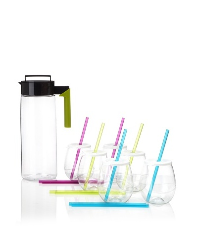 Takeya 66-Oz. Airtight Jug and (6) 16-Oz. Swirl Tumblers