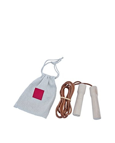 Hermès Leather Jump Rope with Wooden Handles, Tan/Nude