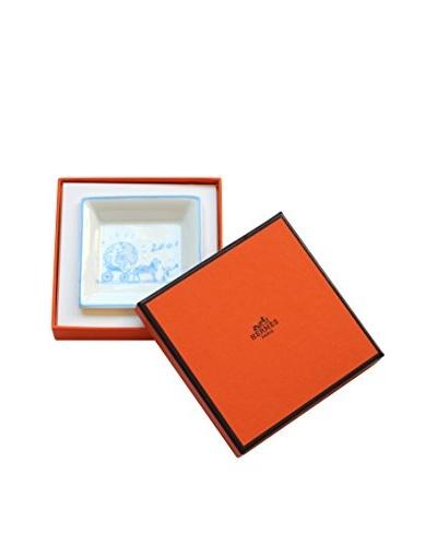 Hermès 2001 Ashtray with Box, Blue/White