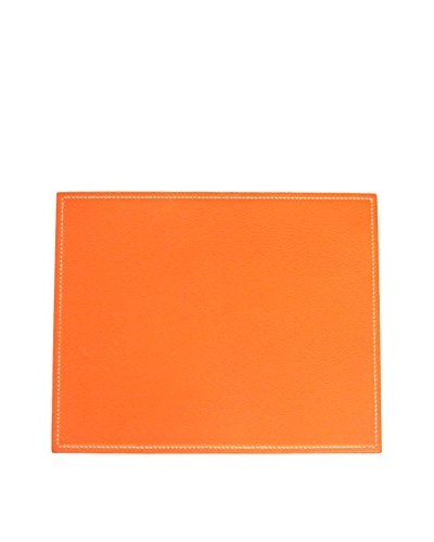Hermès Leather Mouse Pad, Orange