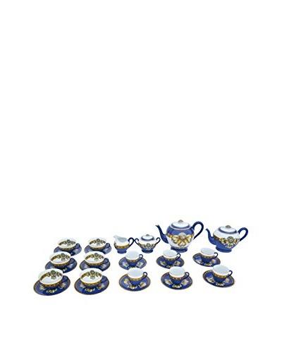 Gucci 28-Piece Coffee and Tea Service, White/Blue/Gold