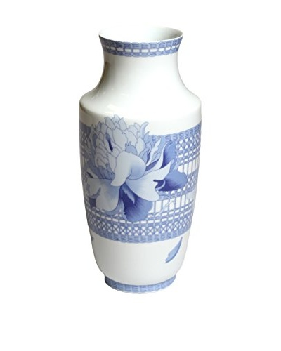 Hermès Pivoines Porcelain Vase, White/Blue