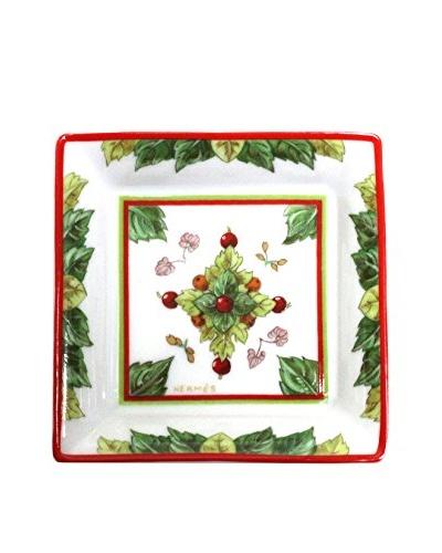 Hermès Pythagore Ashtray, White/Red/Green