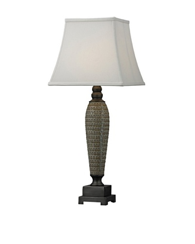 HGTV Home Glazed Ceramic with Pewter Accents Table Lamp