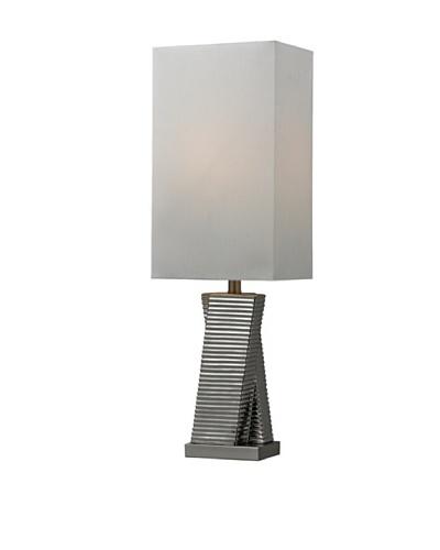 HGTV Home Chrome Plated Ceramic Table Lamp