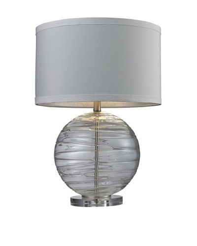 HGTV Home Mouth Blown Glass Table Lamp