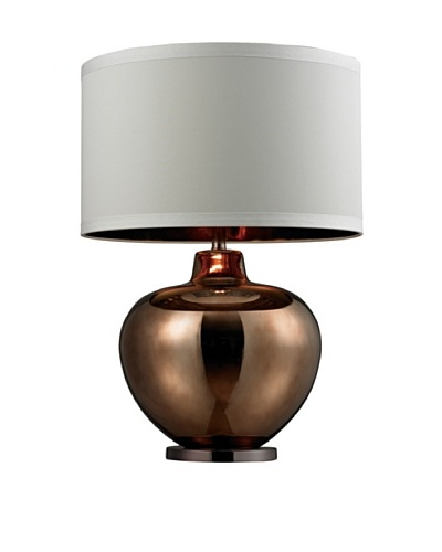 HGTV Home Oversized Blown Glass Table Lamp in Bronze Plated Finish