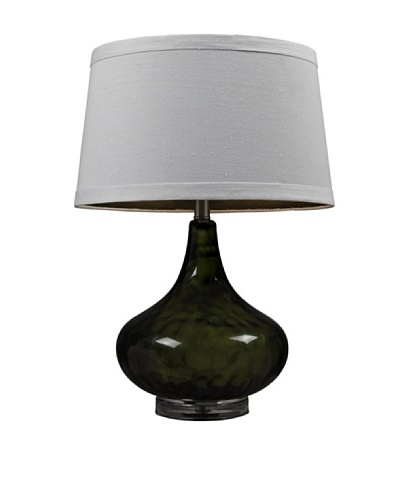 HGTV Home Moss Green Colored Water Glass Table Lamp