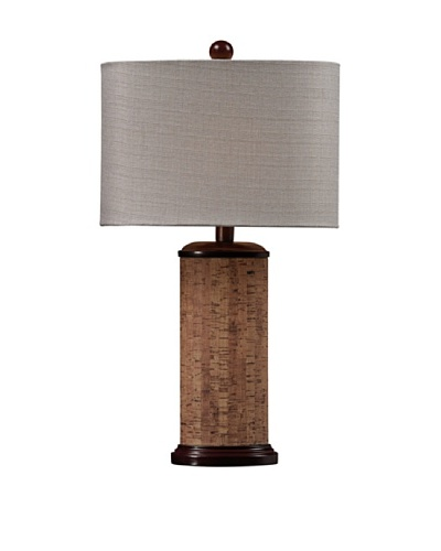 HGTV Home Brown & Natural Colored Cork Table Lamp