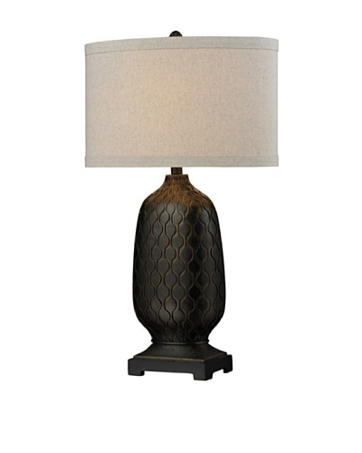 HGTV Home Bronze Oval Table Lamp